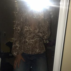 Paisley plunge top